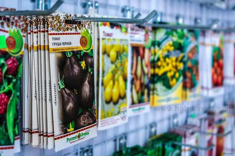 Gói hạt giống tại cửa hàng