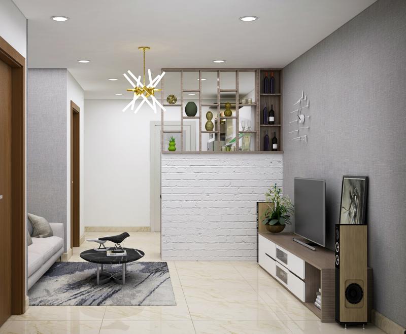 Thiết kế nội thất căn hộ chung cư 85m2 TĐH Quận 9
