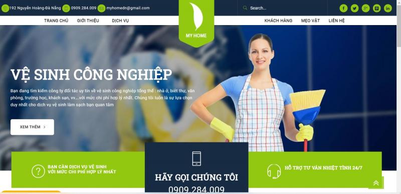 Giao diện chính của website