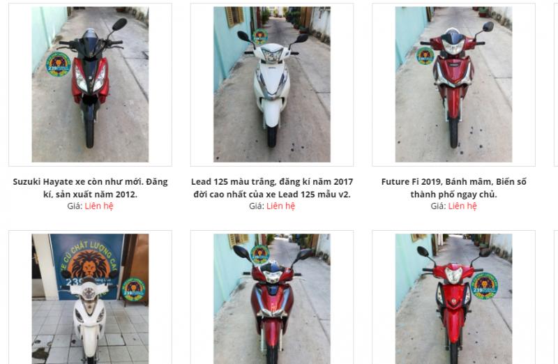 Các mặt hàng từ xe máy đến tay ga đều có mặt tại DNTN PHÁT THÀNH HƯNG