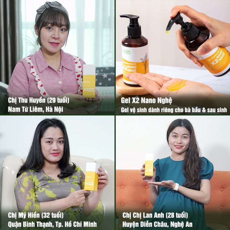 Dung dịch vệ sinh phụ nữ Gel X2 Nano nghệ