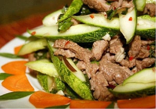 Gỏi thịt bò dưa leo