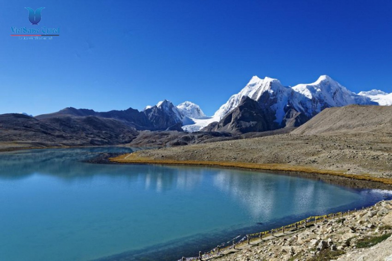 Hồ nước Gurudongmar nằm ở phía bắc của bang Sikkim