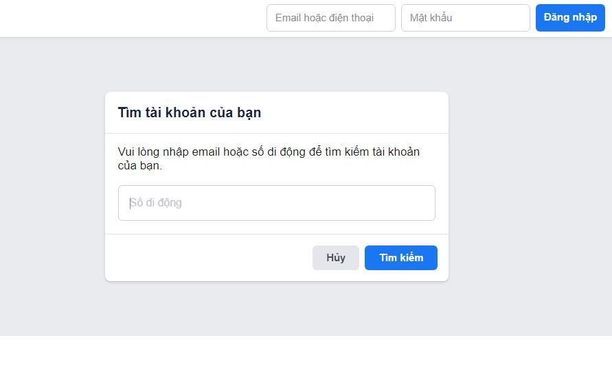 Cách lấy lại tài khoản Facebook bị quên mật khẩu hay bị hack