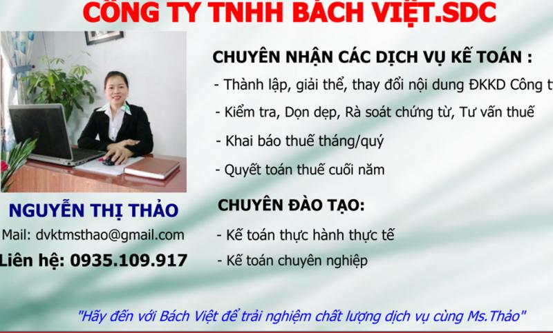Kế toán Bách Việt - Ms Thảo