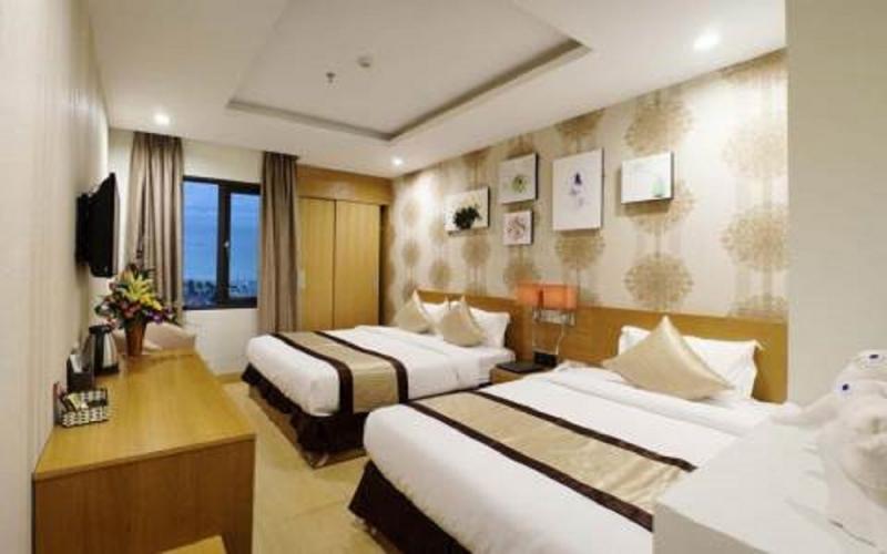 Phòng ngủ của khách sạn Hà Anh