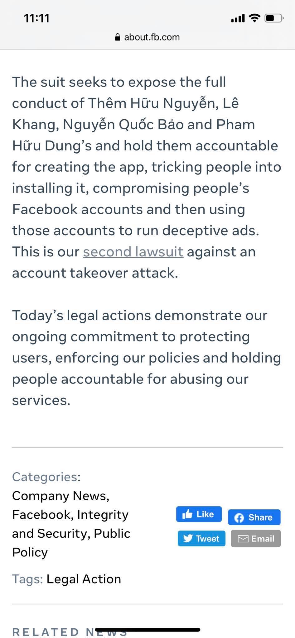Bóc mánh khóe của 4 người Việt bị Facebook kiện vì chiếm đoạt 36 triệu USD - Ảnh 1.