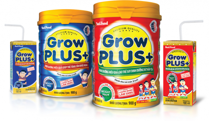 Sữa bột Nutifood Grow Plus + tăng cân