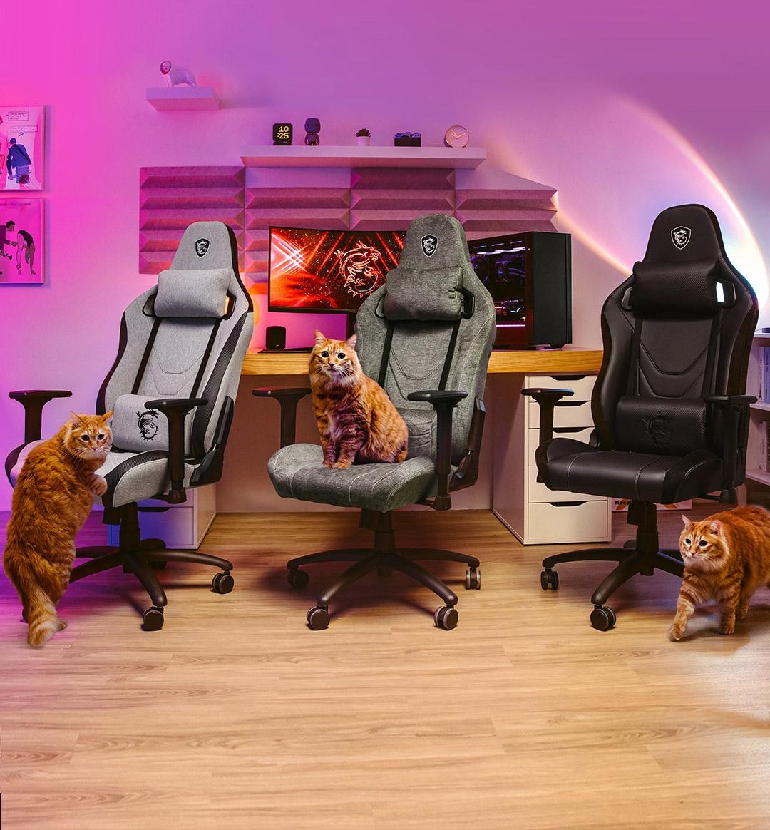 MSI ra mắt ghế game với sợi vải chống nước và trầy - ảnh 1