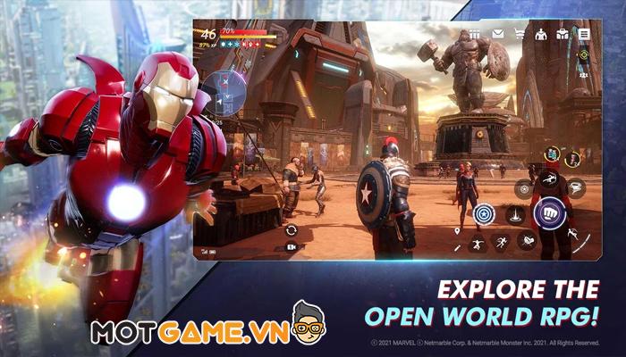 Game nhập vai hành động thế giới mở đầu tiên của Marvel trên thiết bị di động