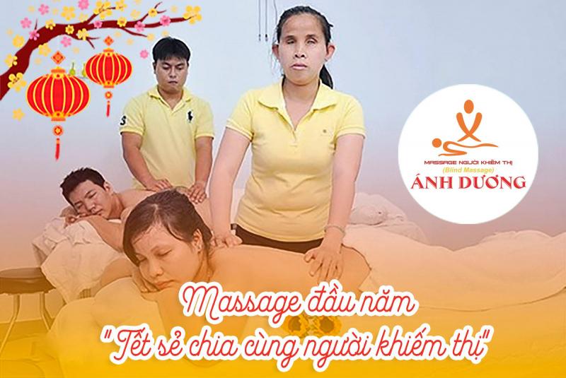 Massage khiếm thị Ánh Dương chuyên cung cấp các dịch vụ massage sức khỏe như: massage body, massage xông hơi, massage đá nóng, massage chân, massage trị liệu, massage phòng riêng