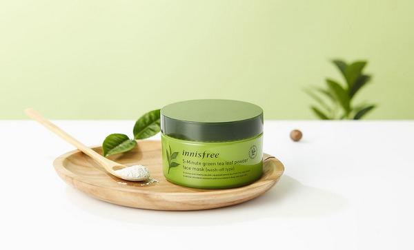 Mặt Nạ Dạng Bột Chiết Xuất Trà Xanh Innisfree 5-Minute Green Tea Leaf Powder Face Mask
