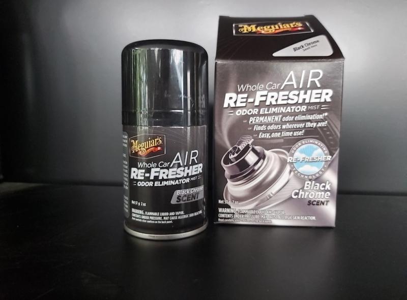 Meguiar's Xịt khử mùi, diệt khuẩn nội thất xe hơi Mùi hương nam tính - Air Refesher - Black Chrome Scent