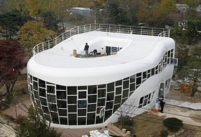 Ngôi nhà hình toliet tại Hàn Quốc