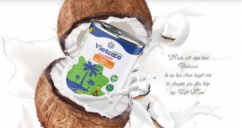 Nước cốt dừa organic Vietcoco