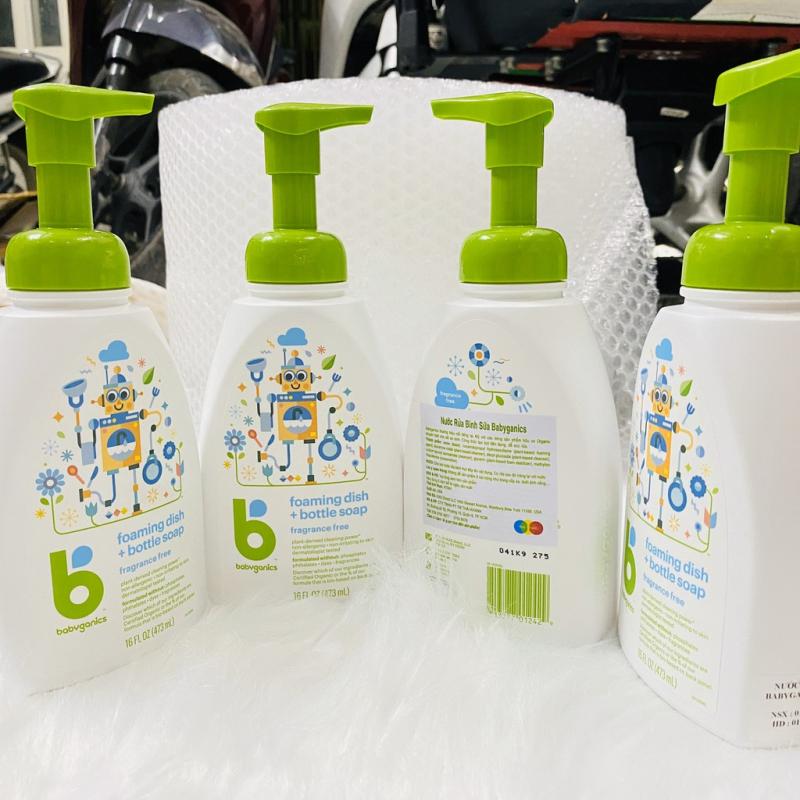 Nước rửa bình sữa Babyganics 473ml