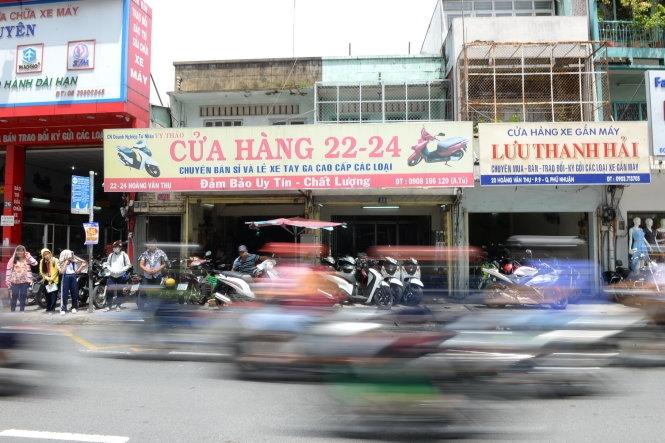 Phố xe máy cũ ngã tư Phú Nhuận