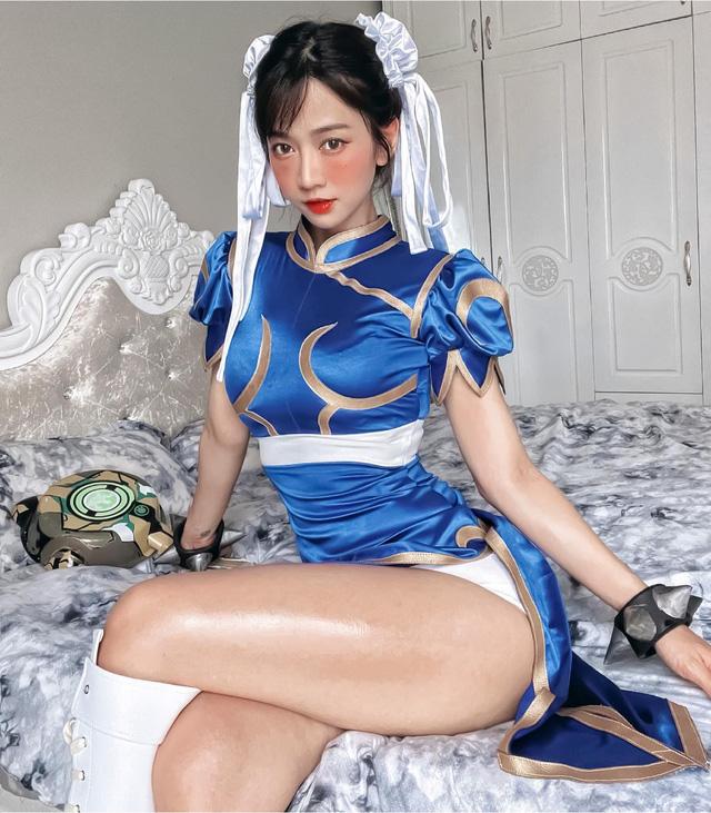 """Lê Bống gây sốc khi hóa thành Chun-Li phiên bản """"siêu vòng ba"""" nhảy sexy, nói lên tác hại của nghiện game"""
