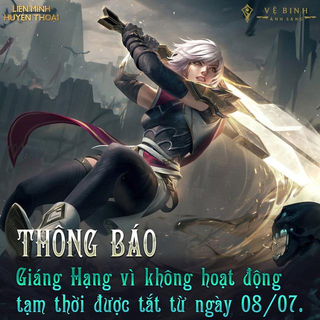 Máy chủ LMHT Việt Nam tắt tính năng tự động giáng hạng, giúp game thủ yên tâm ở nhà chống dịch