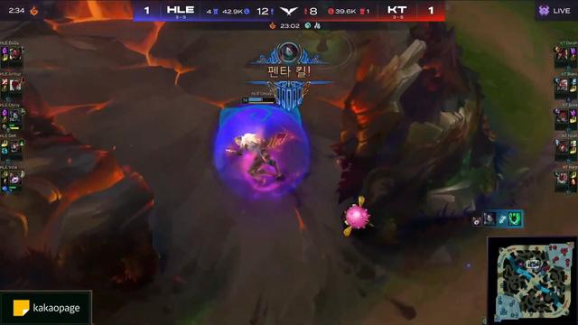 Gánh cả HLE trên lưng, Chovy tạo nên cú Pentakill thần thánh giúp cả đội ngược dòng chiến thắng