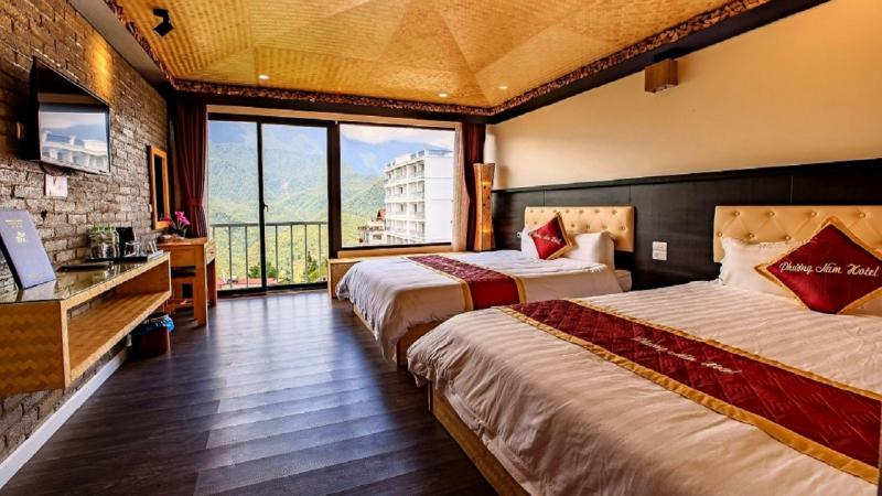 Khách sạn được thiết kế hiện đại vừa sang trọng lại rất tinh tế.