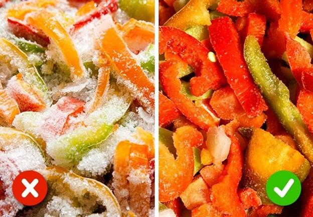 Rau, quả mọng và trái cây đông lạnh