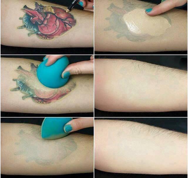 Hình ảnh trước và sau khi sử dụng Remove Tattoo