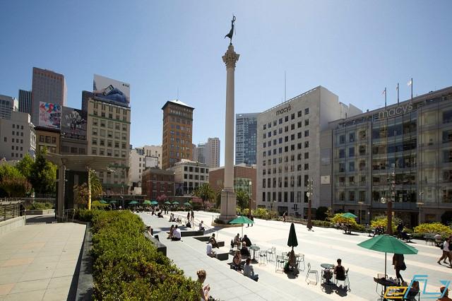 Union Square trung tâm mua sắm nổi tiếng ở San Francisco