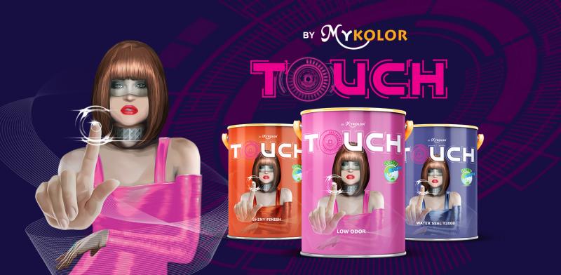 MyKolor Touch là sản phẩn sơn trang trí với đa dạng về màu sẵc