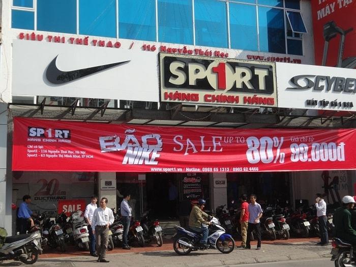 Sport1 có hệ thống siêu thị, cửa hàng lớn trên toàn quốc