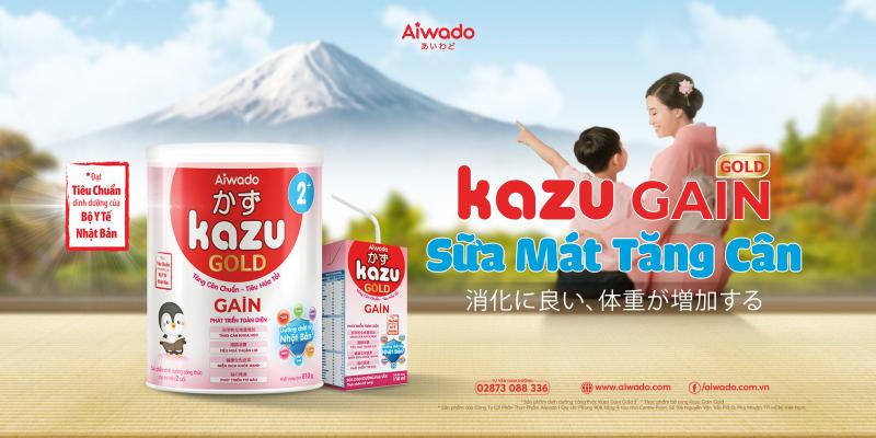 Sữa Mát Tăng Cân Kazu Gain Gold 2+