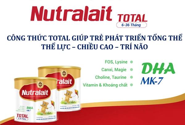 Sữa Nutralait BA dinh dưỡng đặc trị cho trẻ biếng ăn thấp còi