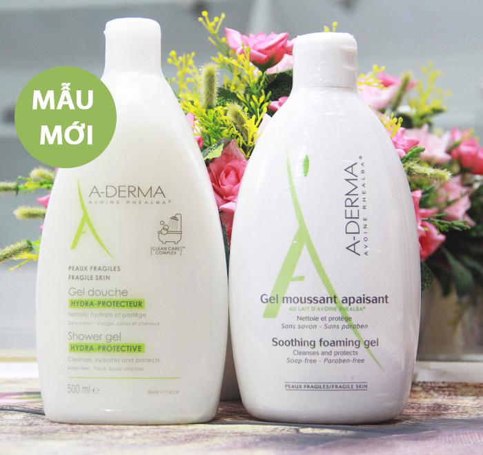 Sữa tắm làm dịu da và ngừa mụn A-DERMA Gel Douche Hydra Protecteur
