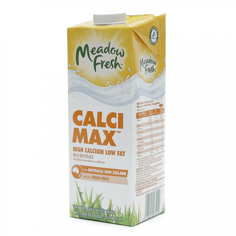 Sữa tươi tiệt trùng Meadow Fresh giàu canxi hộp 1L