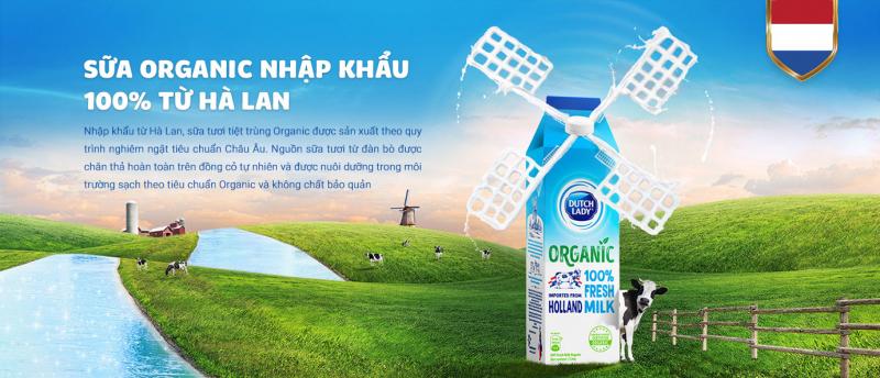 Sữa tươi organic Cô Gái Hà Lan
