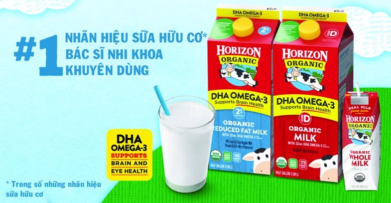 Sữa tươi organic Horizon được bác sĩ nhi khoa khuyên dùng