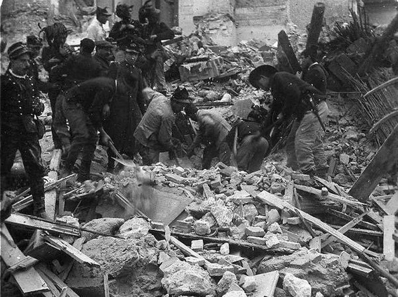 Thảm họa động đất Messina, Italia (1908)