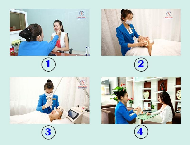 Quy trình 4 bước điều trị nám của TMV Ngọc Dung