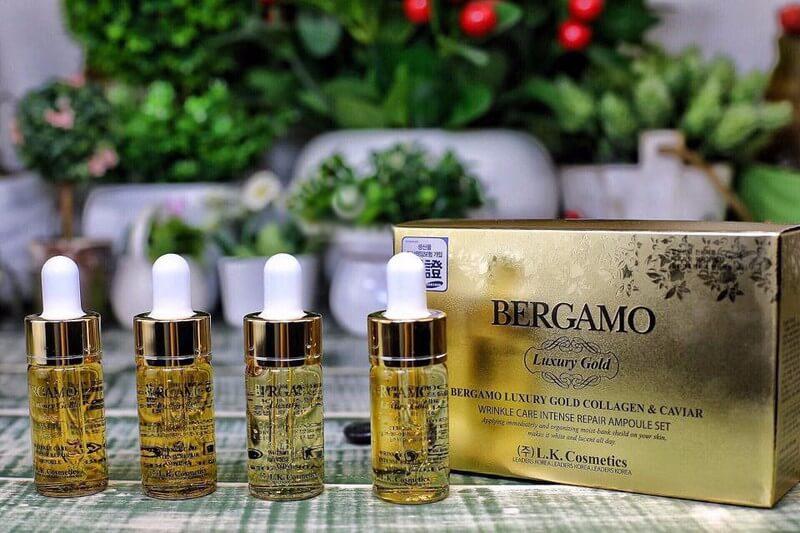 Tinh chất chống lão hóa Bergamo Luxury Gold Caviar Vitamin