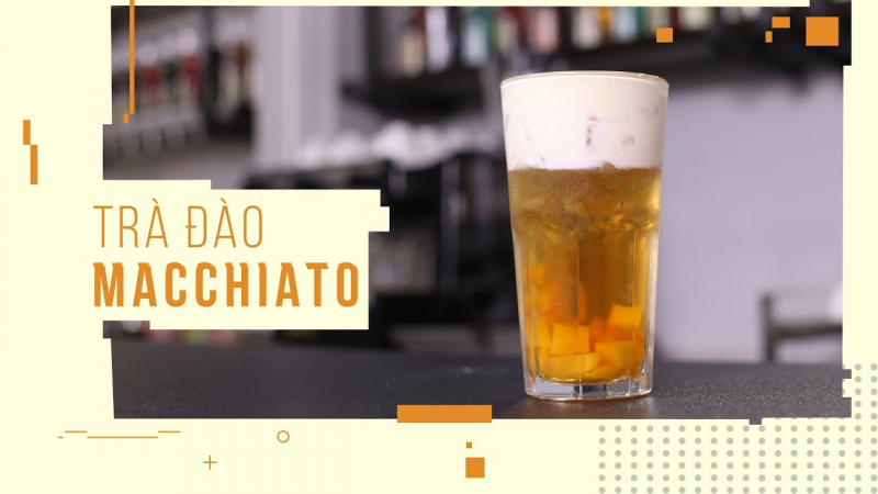 Trà Đào Macchiato
