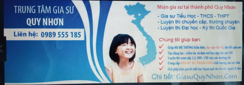 Top 3 Trung tâm gia sư uy tín và chất lượng nhất TP. Quy Nhơn, Bình Định