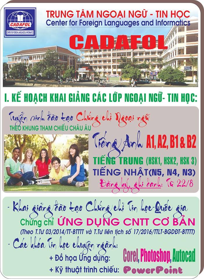 Trung tâm ngoại ngữ - tin học Cadafol