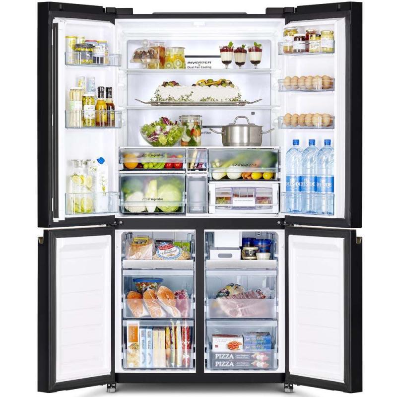 Tủ lạnh Inverter 4 cánh kiểu Pháp 622 lít EQE6909A-BVN