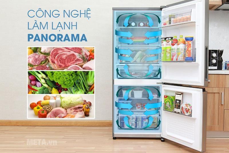 Tủ lạnh Panasonic NR-BL268PKVN giúp vô hiệu hóa vi khuẩn, khử mùi hiệu quả cho không khí trong tủ lạnh luôn trong lành, sạch sẽ và không có mùi