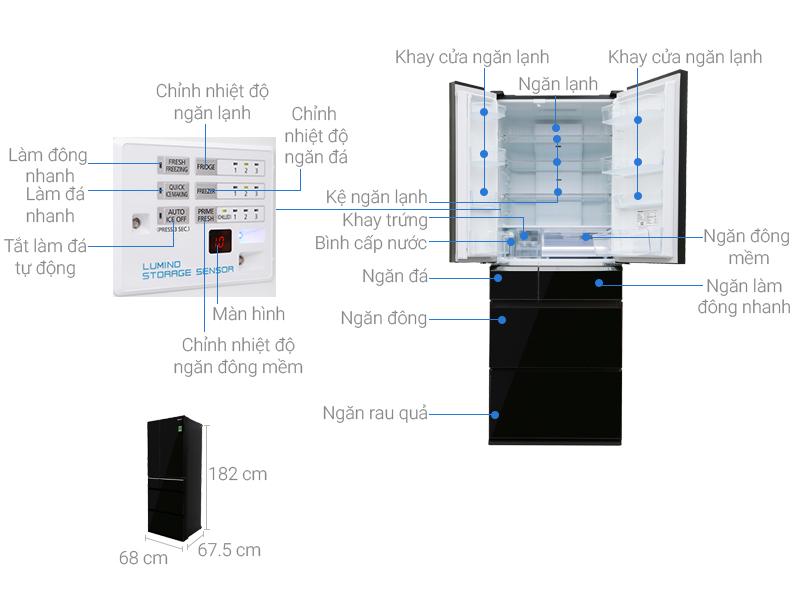 Tủ lạnh Panasonic Inverter 489 lít NR-F510GT-X2