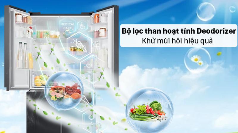 Tủ lạnh Samsung Inverter 488 lít RF48A4000B4/SV