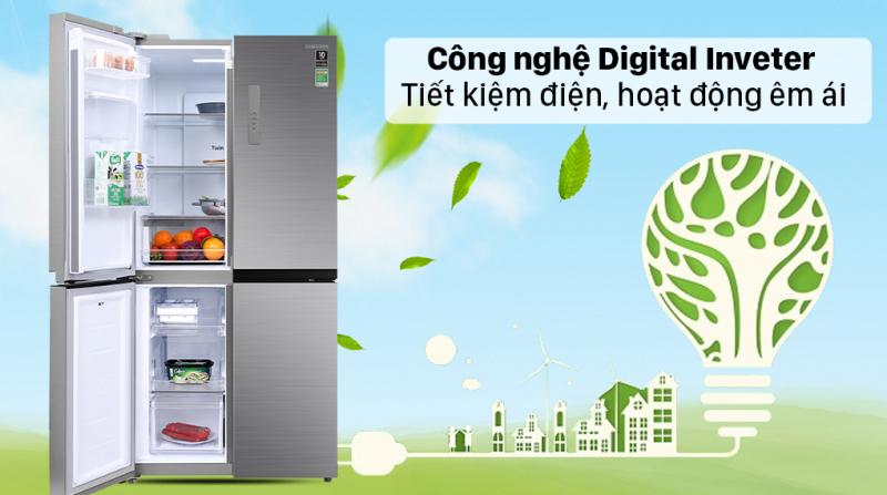 Tủ lạnh Samsung Inverter 488 lít RF48A4010M9/SV