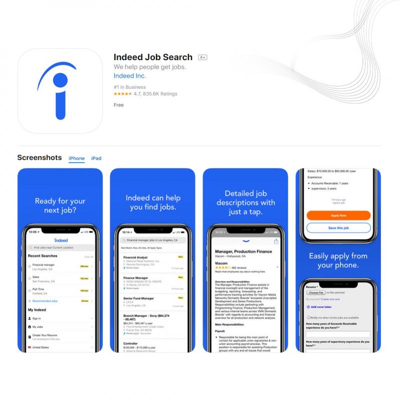 Tìm việc với Indeed trên điện thoại di động
