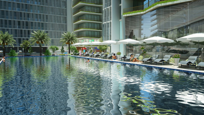 Bể bơi vô cực tại Wyndham Soleil Đà Nẵng