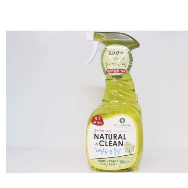 Xịt khử mùi diệt khuẩn - Natural & Clean